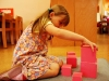 Mädchen mit dem Rosa Turm