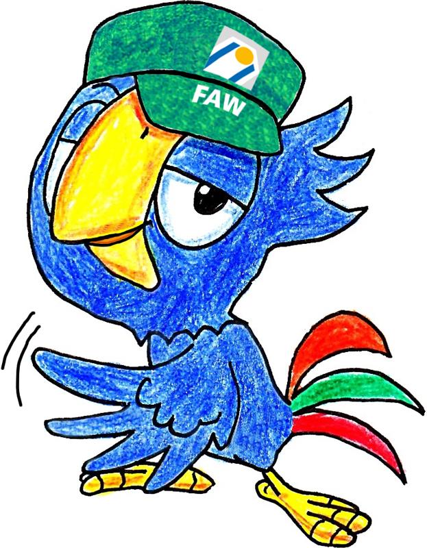FAW_Maskottchen Fawi_cool mit Cap